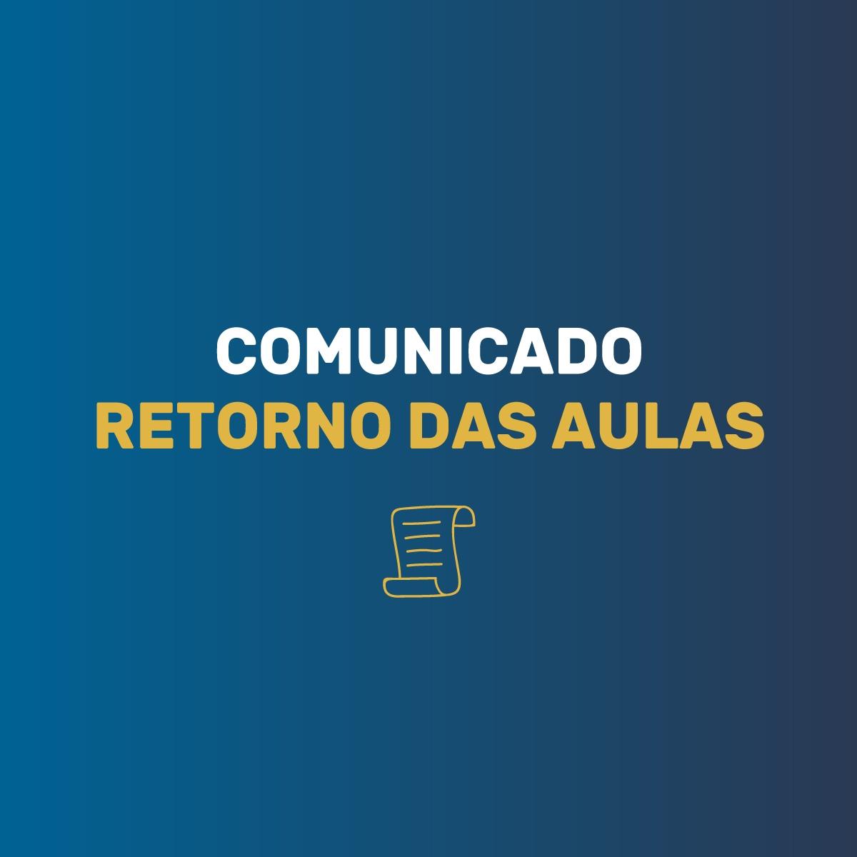 COMUNICADO OFICIAL CETEM: Retorno das aulas